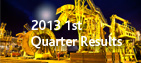 2013 First Quarter Results