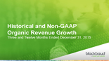 Historical and Non-GAAP Organic Revenue Growth