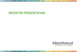 Blackbaud Investor Presentation