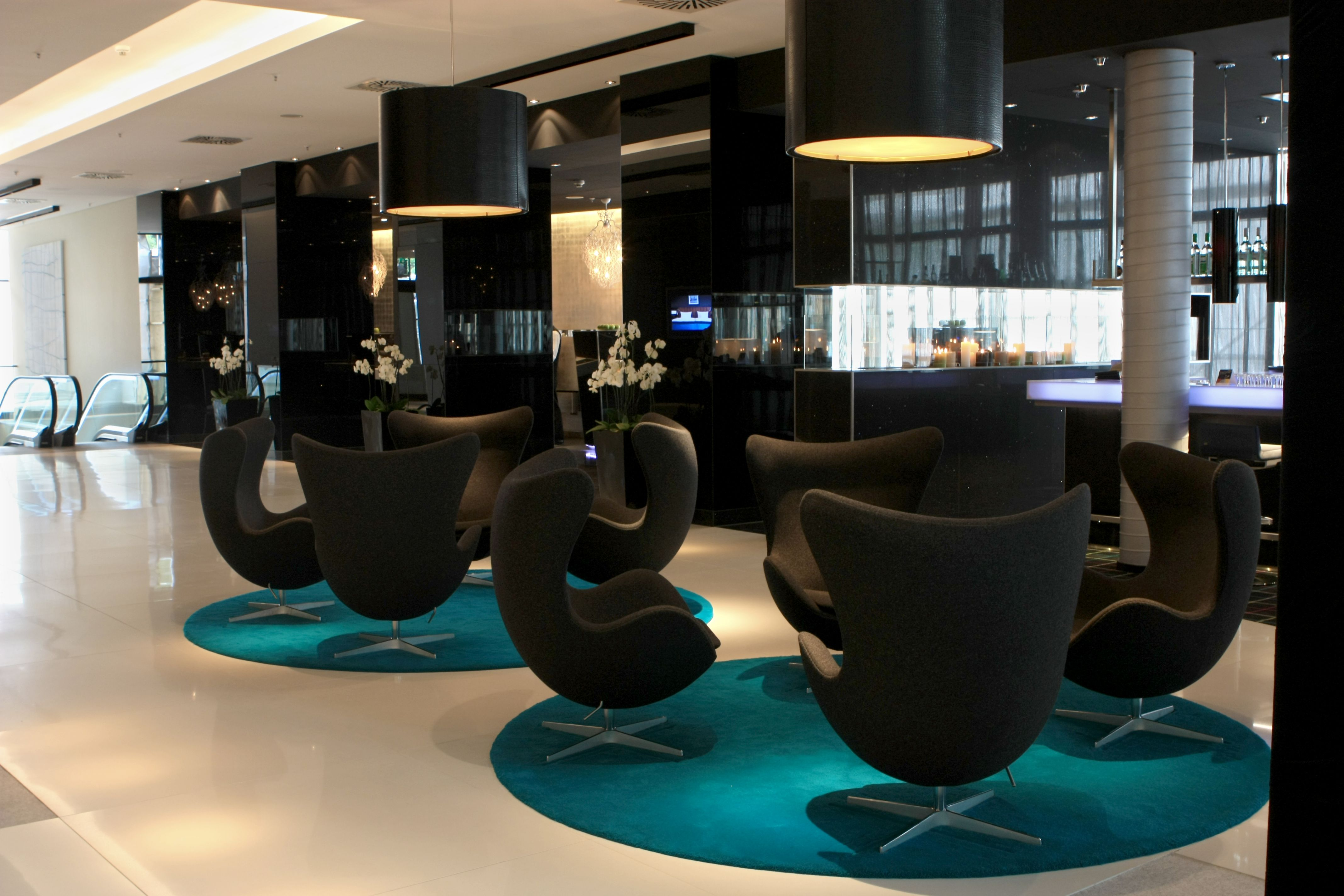 Modern Hotel Lobby Front Desk Viewing Gallery