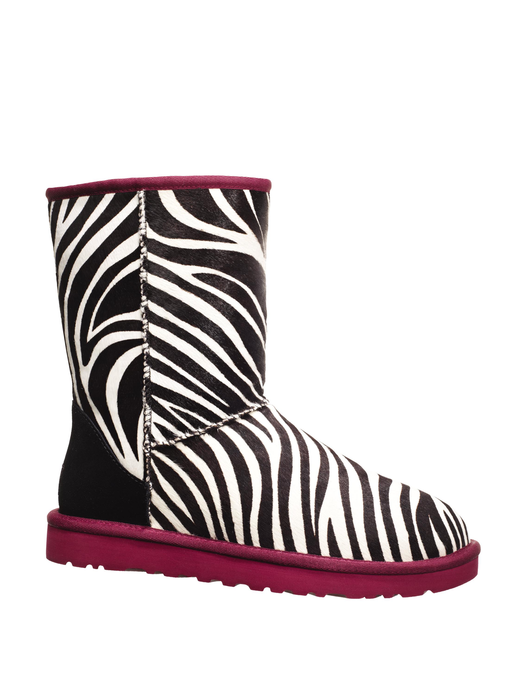 pink zebra uggs