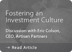 Fostering An Investment Culture