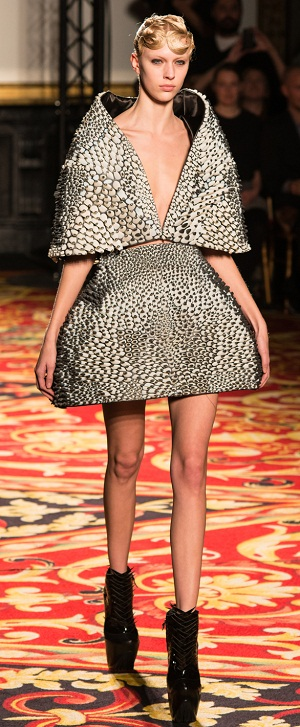 Stratasys 3D Printed Cape & Skirt with Objet Connex Multi-material 3D Printed Technology