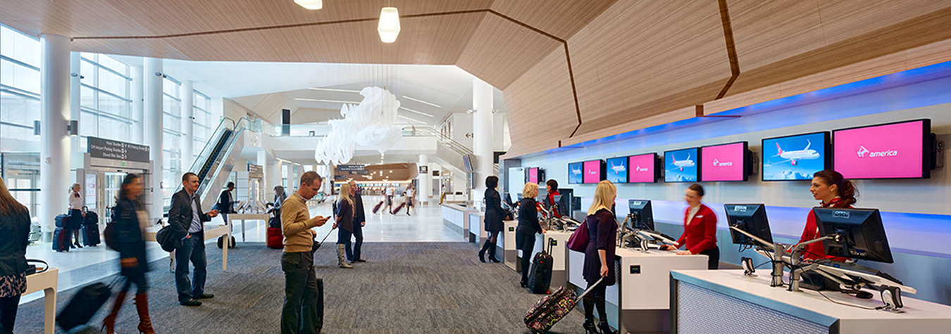 Virgin America's sleek and sustainable home at San Francisco International Airport - Terminal 2