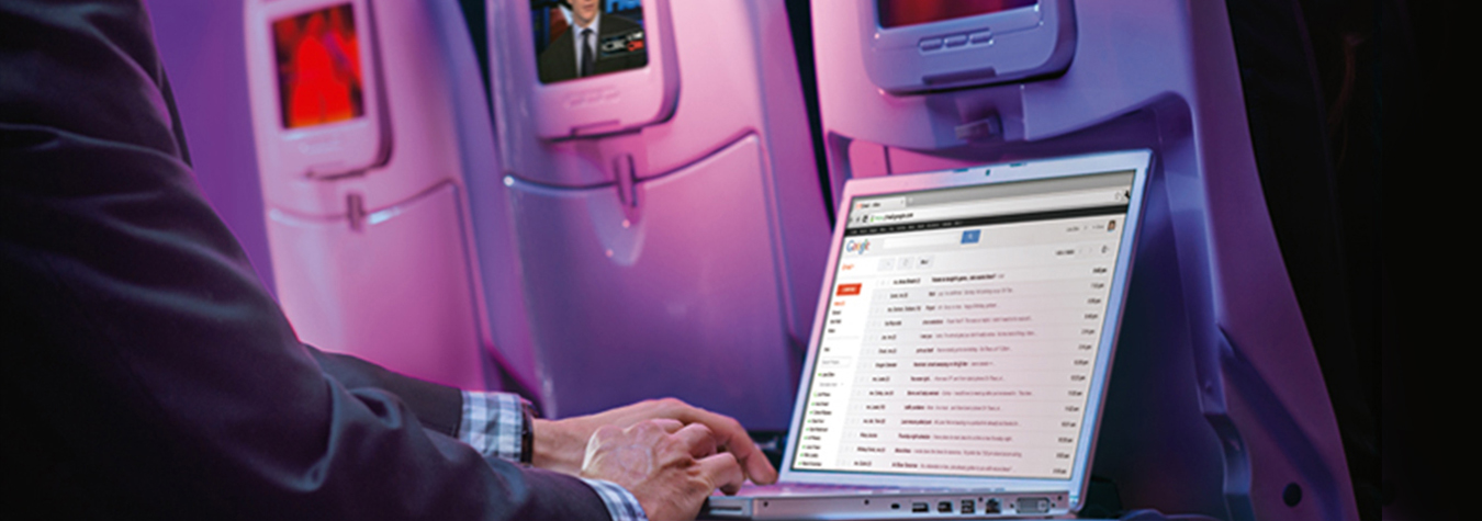 Virgin America is the only airline to offer WiFi and live television on every flight