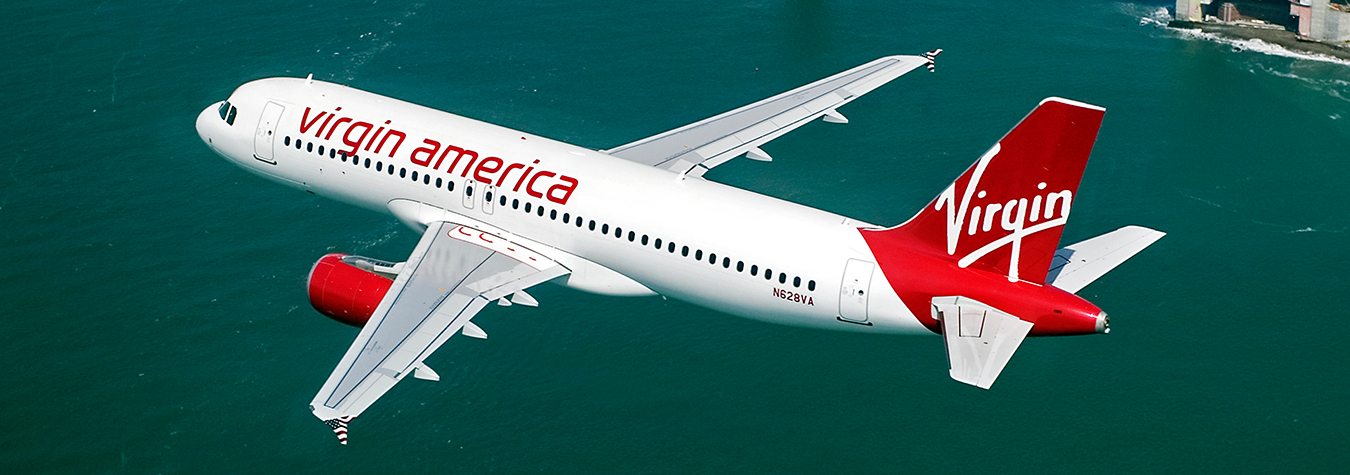 Virgin America's young and fuel efficient Airbus A320 aircraft
