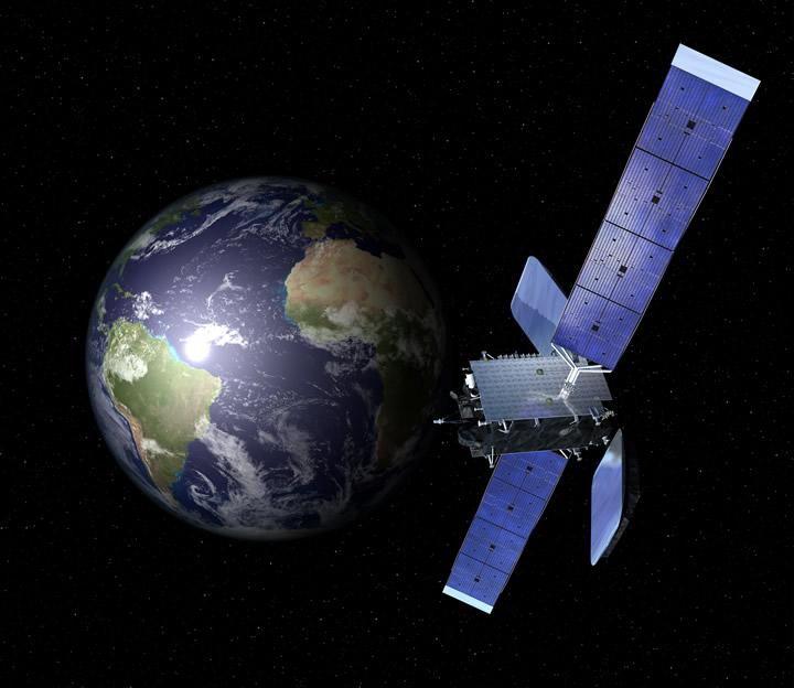 Artist rendering of AMAZONAS 4A in orbit