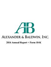 2016 Alexander & Baldwin Annual Report