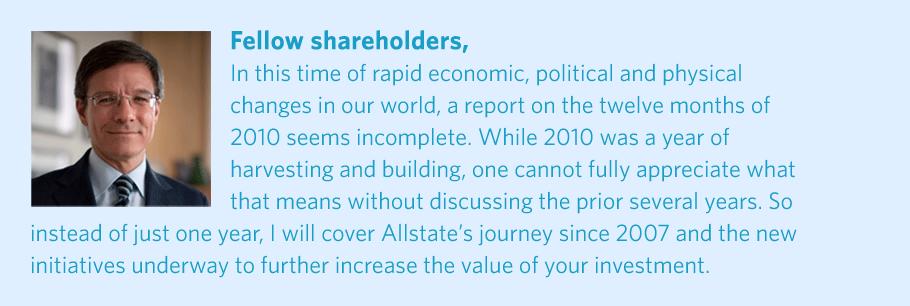 allstate 2010 annual report