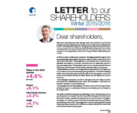 Shareholder Letter
