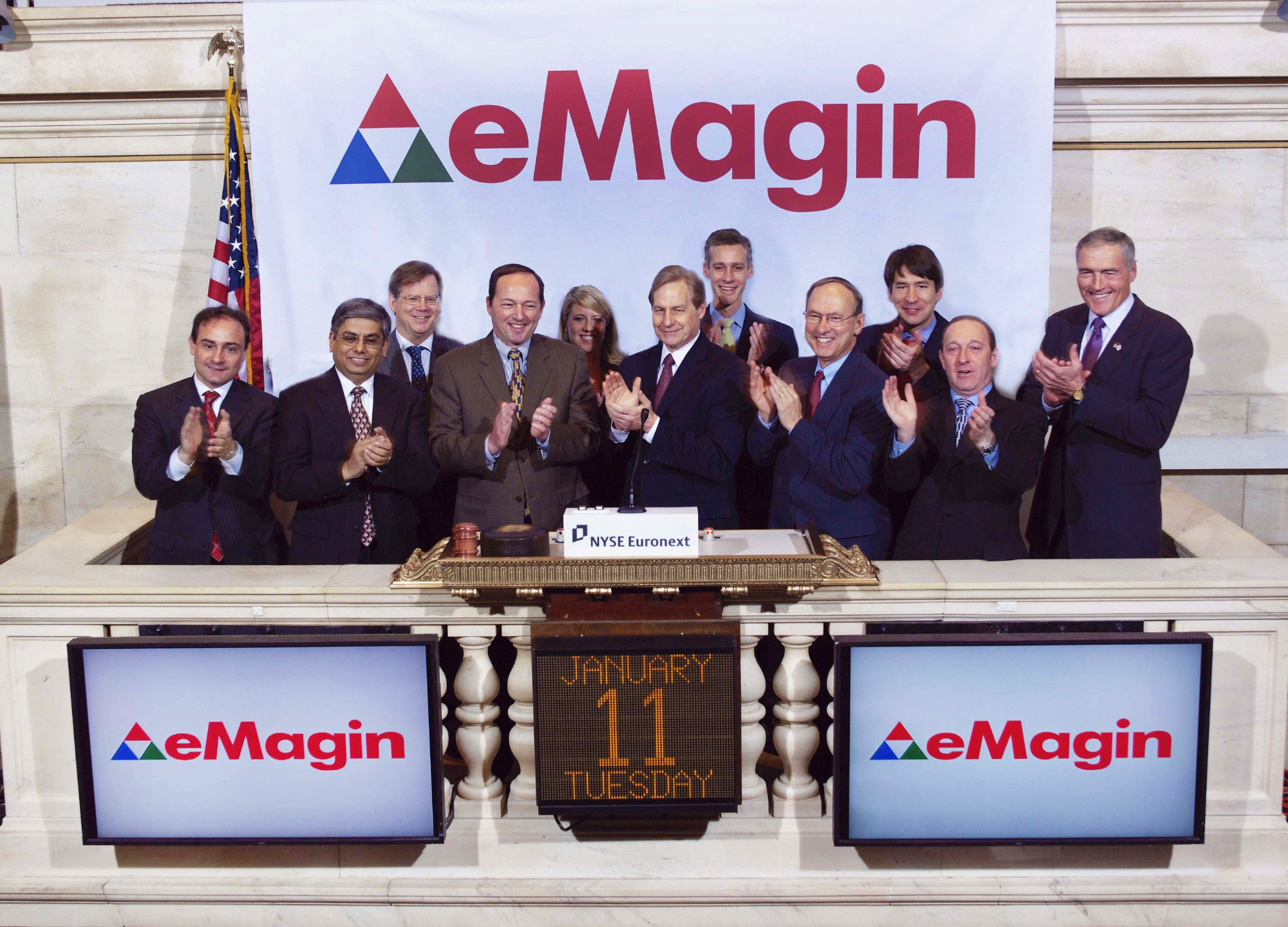 eMagin ringing the opening bell at the NYSE | eMagin Corporation