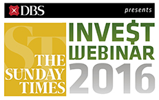 Logo of The Sunday Times Invest Webinar Presented by DBS