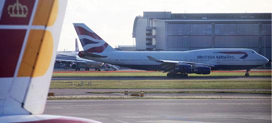 British Airways and Iberia airplanes